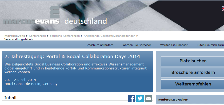 Portal & Social Collabration Days 2014
