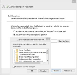 Zertifikatimport-Assistent2-Zwischenzertifizierungstellen